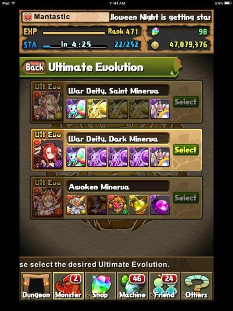 Choose the best option (Awoken Minerva!)