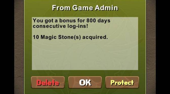 800 Days of Puzzle and Dragons
