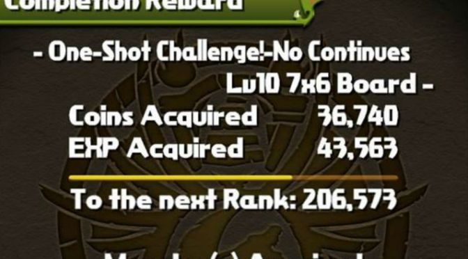One Shot Challenge Level 9 & 10 Cleared