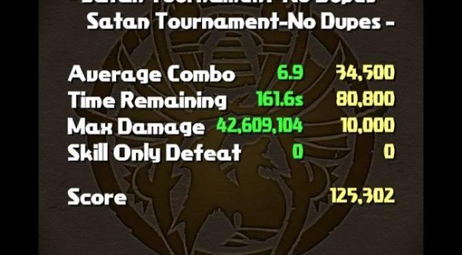 [Video] Satan Ranking Tournament 125,302 Score