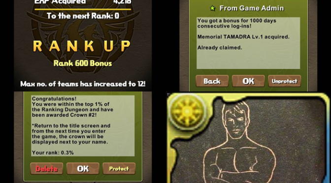 Rank 600, 1000 Days Played, and Second Crowning Achievement