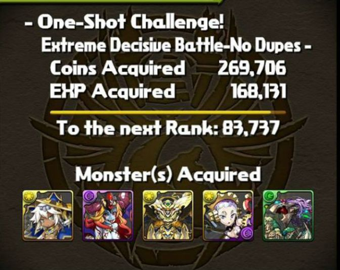 One Shot Challenge 4 Clear Videos: Gaia & Zeus