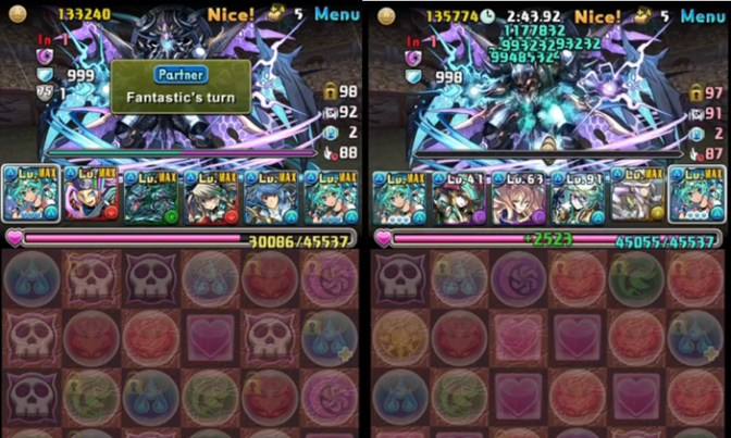 Farming for Skill Delay Resist Tamadras in Special Descend Rush without Awoken Liu Bei